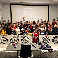 Hockey Night at Westland - Year End Staff Party